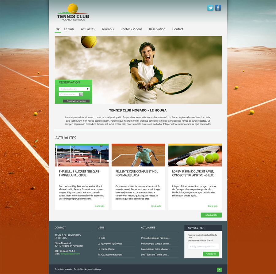 webdesign club de tennis